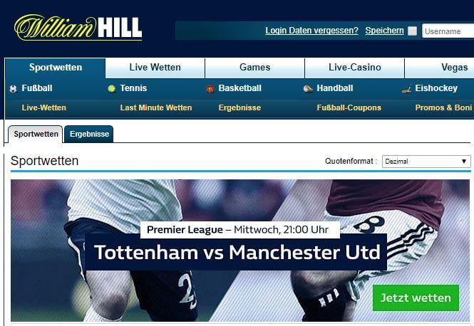 William hill angebot